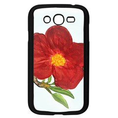 Deep Plumb Blossom Samsung Galaxy Grand Duos I9082 Case (black) by lwdstudio