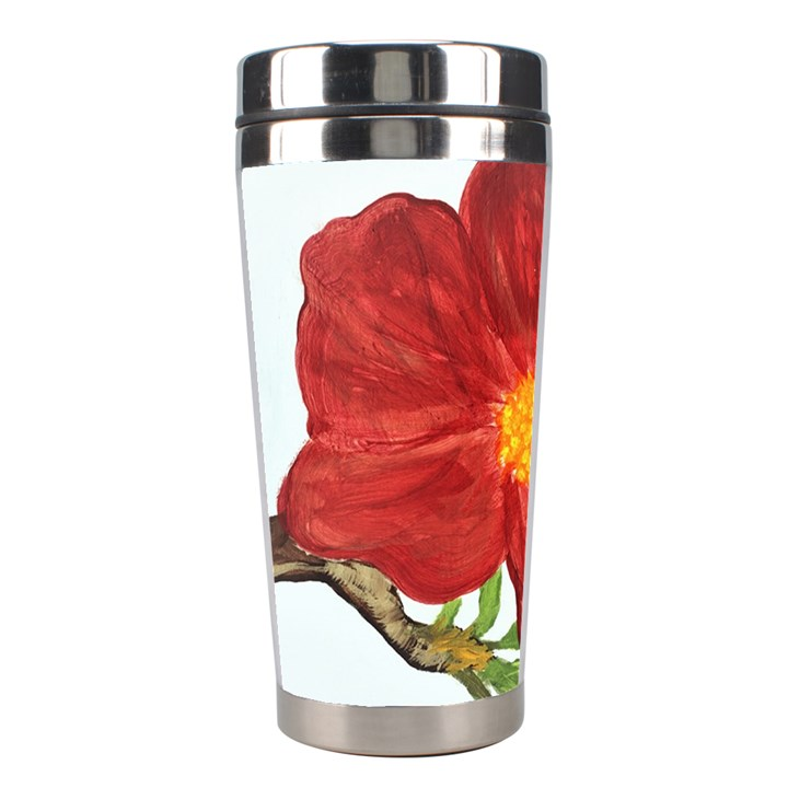 Deep Plumb Blossom Stainless Steel Travel Tumblers