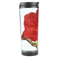 Deep Plumb Blossom Travel Tumbler