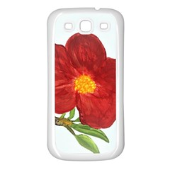 Deep Plumb Blossom Samsung Galaxy S3 Back Case (white) by lwdstudio