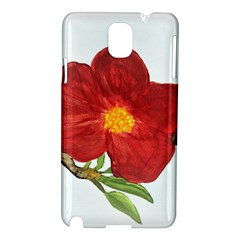 Deep Plumb Blossom Samsung Galaxy Note 3 N9005 Hardshell Case by lwdstudio