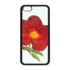 Deep Plumb Blossom Apple Iphone 5c Seamless Case (black) by lwdstudio