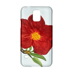 Deep Plumb Blossom Samsung Galaxy S5 Hardshell Case  by lwdstudio