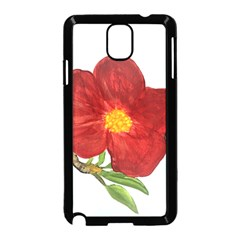 Deep Plumb Blossom Samsung Galaxy Note 3 Neo Hardshell Case (black) by lwdstudio