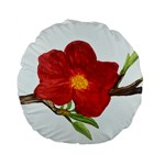 Deep Plumb Blossom Standard 15  Premium Flano Round Cushions Front