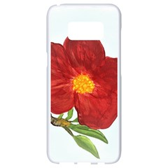 Deep Plumb Blossom Samsung Galaxy S8 White Seamless Case