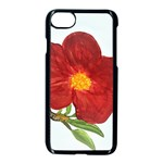 Deep Plumb Blossom Apple iPhone 8 Seamless Case (Black) Front