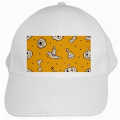 Funny Halloween Party Pattern White Cap by HalloweenParty