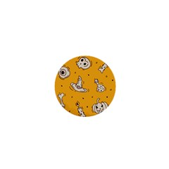 Funny Halloween Party Pattern 1  Mini Magnets