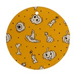Funny Halloween Party Pattern Ornament (Round) Front