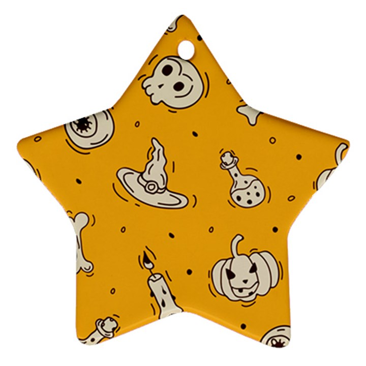 Funny Halloween Party Pattern Ornament (Star)