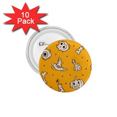 Funny Halloween Party Pattern 1 75  Buttons (10 Pack)