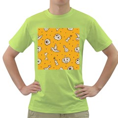 Funny Halloween Party Pattern Green T Shirt