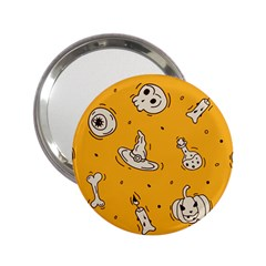 Funny Halloween Party Pattern 2 25  Handbag Mirrors