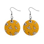 Funny Halloween Party Pattern Mini Button Earrings Front
