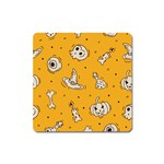 Funny Halloween Party Pattern Square Magnet Front