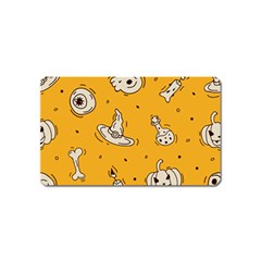 Funny Halloween Party Pattern Magnet (name Card)