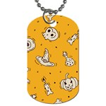 Funny Halloween Party Pattern Dog Tag (One Side) Front