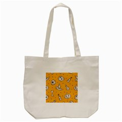 Funny Halloween Party Pattern Tote Bag (cream)
