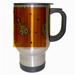 Funny Halloween Party Pattern Travel Mug (Silver Gray) Right