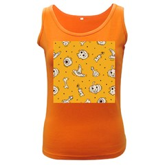 Funny Halloween Party Pattern Women s Dark Tank Top