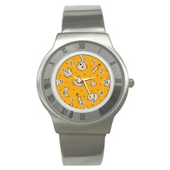 Funny Halloween Party Pattern Stainless Steel Watch