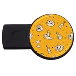 Funny Halloween Party Pattern USB Flash Drive Round (4 GB) Front