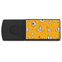 Funny Halloween Party Pattern Rectangular Usb Flash Drive by HalloweenParty