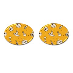 Funny Halloween Party Pattern Cufflinks (oval)