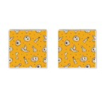 Funny Halloween Party Pattern Cufflinks (Square) Front