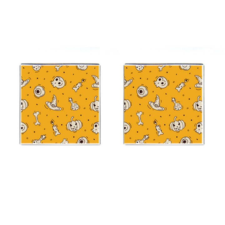Funny Halloween Party Pattern Cufflinks (Square)