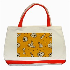 Funny Halloween Party Pattern Classic Tote Bag (red)
