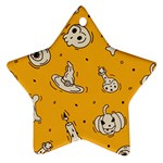 Funny Halloween Party Pattern Star Ornament (Two Sides) Back