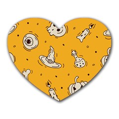 Funny Halloween Party Pattern Heart Mousepads