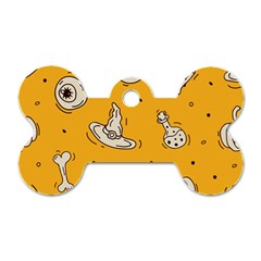 Funny Halloween Party Pattern Dog Tag Bone (two Sides)