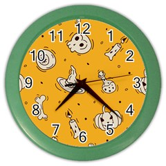 Funny Halloween Party Pattern Color Wall Clock