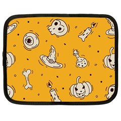 Funny Halloween Party Pattern Netbook Case (large) by HalloweenParty