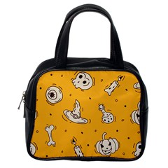 Funny Halloween Party Pattern Classic Handbag (one Side)