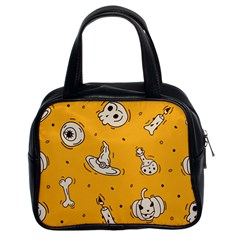 Funny Halloween Party Pattern Classic Handbag (two Sides)