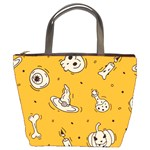 Funny Halloween Party Pattern Bucket Bag Front