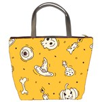 Funny Halloween Party Pattern Bucket Bag Back