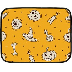Funny Halloween Party Pattern Fleece Blanket (mini)