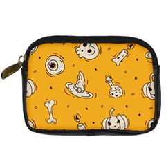 Funny Halloween Party Pattern Digital Camera Leather Case by HalloweenParty