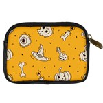 Funny Halloween Party Pattern Digital Camera Leather Case Back