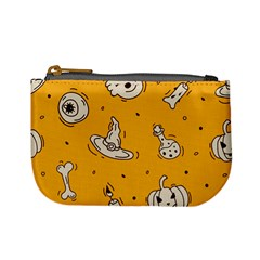 Funny Halloween Party Pattern Mini Coin Purse by HalloweenParty