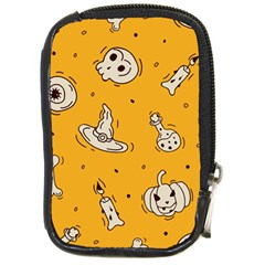 Funny Halloween Party Pattern Compact Camera Leather Case