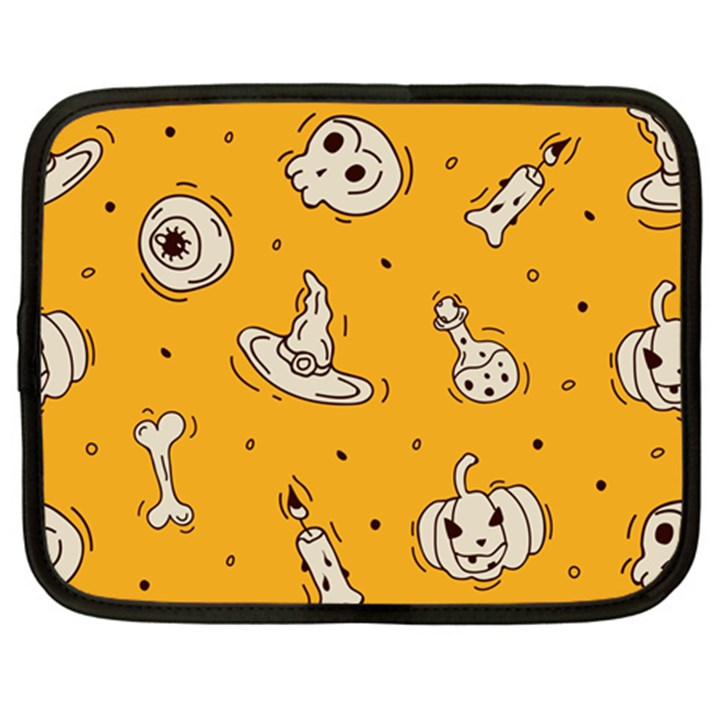 Funny Halloween Party Pattern Netbook Case (XL)
