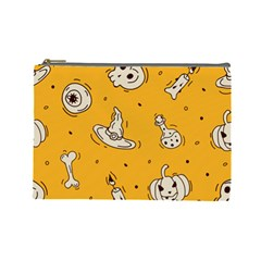 Funny Halloween Party Pattern Cosmetic Bag (large)