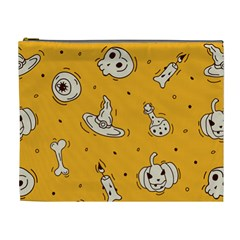 Funny Halloween Party Pattern Cosmetic Bag (xl)