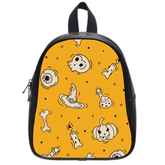 Funny Halloween Party Pattern School Bag (small)